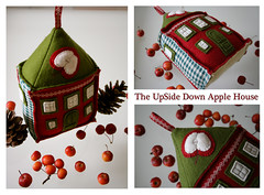 The UpSide Down Apple House (Lilla Lotta) Tags: red house green home apple handmade felt orchard woolfelt lillalotta