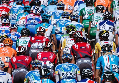The peloton during the Grand Départ in Brest in 2008. Photo: Sylvain Elies