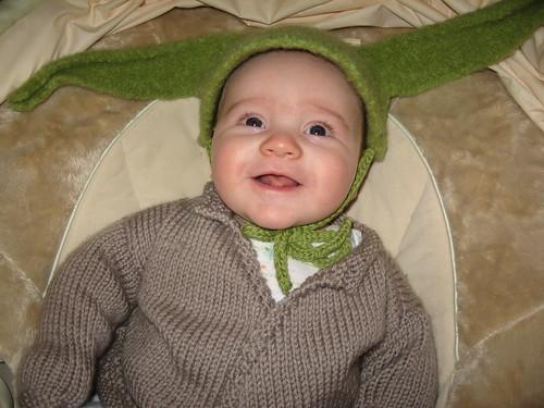 Yoda smiling