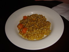 Roast pumpkin and sage barley risotto at The Dogs, Edinburgh