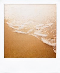 . (Rebecca...) Tags: uk sea film beach water polaroid sand solitude cornwall dream newquay foam edge polaroidsx70 600filmwithblendfilter fallroidweek2008