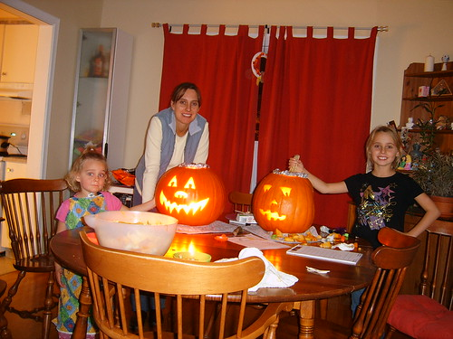 Pumpkin Carving  with the Girls