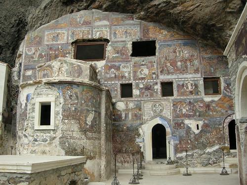 Sümela Monastery - Frescoes on the Church Wall