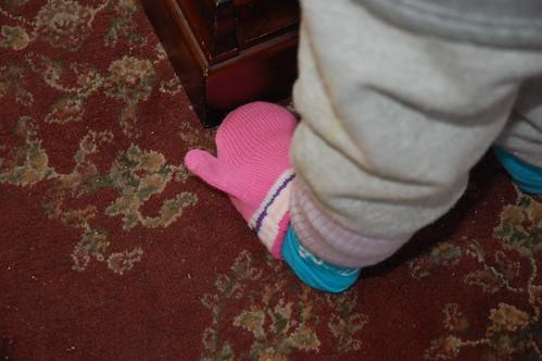Mittens as socks