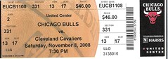 Bulls v. Cavs ticket