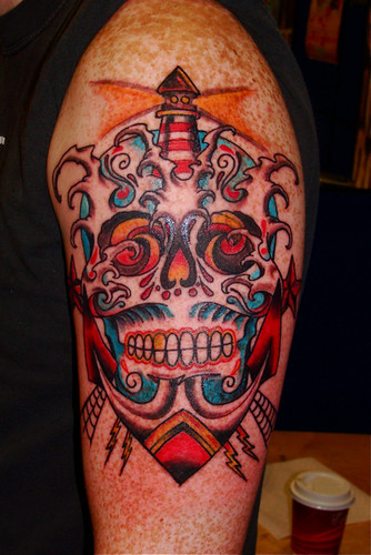 Nautical Mexican skull