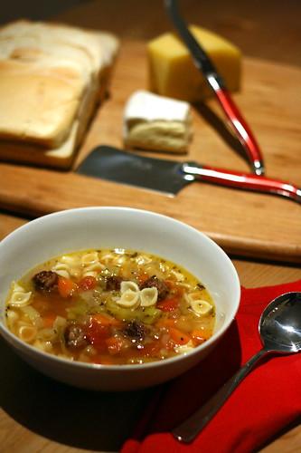 Sausage minestrone 1