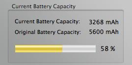 Lamentable estado de la batería de mi MacBook Pro tras un año de uso