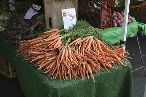 Carrots at the Hollywood Farmer's Market