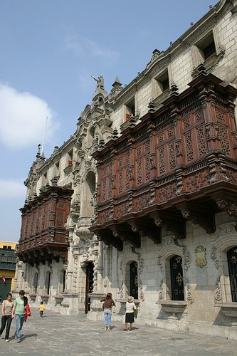 Facade on Plaza de Armas, Lima - Peru