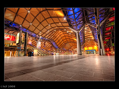 Southern Cross Station, Melbourne (sachman75) Tags: longexposure november night hub railway melbourne trains roadtrip victoria 2008 hdr regional 1022 interchange interestingness3 southerncrossstation i500 40d