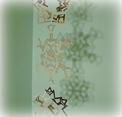 newspaper snowflakes (mayalu) Tags: winter holiday snowflakes newspaper recycle