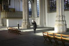 Beth at the Oude Kerk (lukeadelphia) Tags: amsterdam beth oudekerk