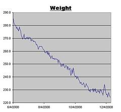 Weight Log as of December 12, 2008
