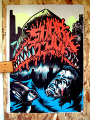 Shark Toof (~db~) Tags: california usa streetart pasteup art sign poster la shark us losangeles unitedstates wheatpaste paste wheat socal publicart sfv sanfernandovalley riversidedrive northhollywood laist toof coldwatercanyon sharktoof 101fujidscf2151