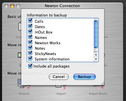 NCX - backup eMate