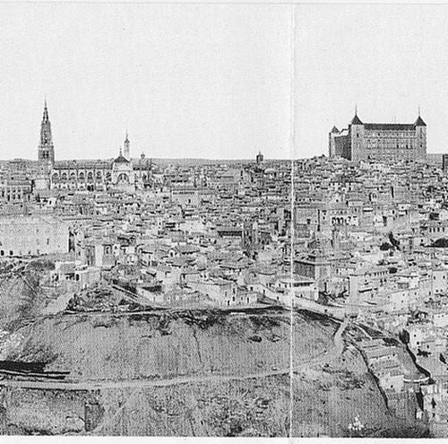 Panorámica de Toledo en el siglo XIX. Foto Lacoste.