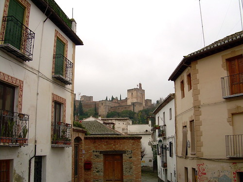Albaicín quarter with Alhambra in the background
