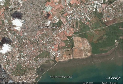 Panama City on Google Earth