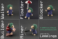 crocheted lemmings