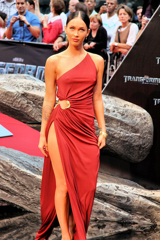 Transformers 2 Berlin Megan Fox vestido