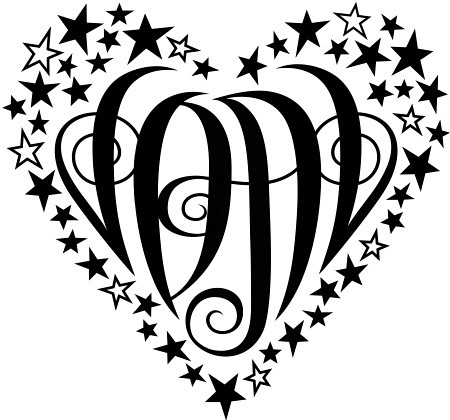 heart tattoo with initials. quot;JDALquot; Heart Design