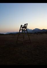 ( Viciosyvirtudes ) Tags: blue sky brown mountains beach azul sand loneliness playa arena murcia cielo soledad montaas marrn calblanque