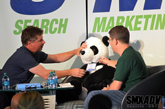 Matt Cutts and Danny Sullivan with Panda at SMX