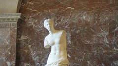 Famous sculpture Venus de Milo - Louvre Museum (ACM83) Tags: sculpture paris france art glass museum greek venus pyramid roman louvre milo monalisa davinci egypt gioconda nike musee napoleon cupid psyche joconde paining samothrace antiquities leondardo michelangeloparis2