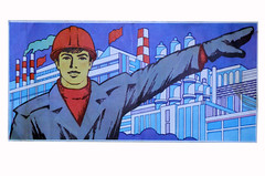 A young worker - Soviet Poster (Soviet Reality) Tags: lenin red history work vintage peace propaganda moscow space military nazi hitler astronaut science ephemera communism soviet labour dictator decor 80 cosmos homedecor stalin coldwar ussr redarmy kgb gagarin dictatorship paperephemera cosmonautics