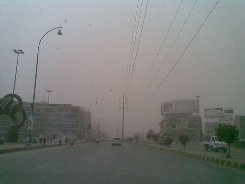 Dusty Day in Karachi