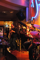 Tran Manh Tuan playing 2 saxs at Sax N' Art Cafe, Saigon