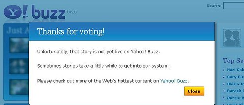 Not Ready To Yahoo! Buzz