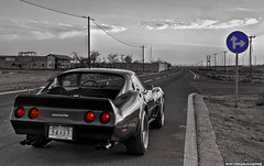 Corvette - End of the Day (Mishari Al-Reshaid Photography) Tags: road sky cats reflection classic cars chevrolet car sign photoshop canon reflections eos automobile cs2 stingray chevy american kuwait autos digitalrebel blacknwhite corvette canoneos hdr photoshopcs2 classiccars automobiles doha q8 carphotos carphotography artphoto corvettestingray 24105 coolcars gtm americancar carphoto colorseparation photomatix imagestabilizer q80 canonllens xti 400d mishari eos400d canoneos400d digitalrebelxti canon400d canonef24105f4lis aplusphoto kuwaitphoto kuwaitphotos kuwaitcars kvwc excapture kuwaitartphoto gtmq8 kuwaitart kuwaitvoluntaryworkcenter kuwaitvwc grendizer99 hyperdynamicrange kuwaitphotography grendizer99photos misharialreshaid malreshaid misharyalrasheed