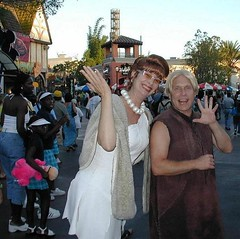 Barney Rubble & Wilma Flintstone (L_D_SAINT) Tags: wilma disneyland barney flinstones