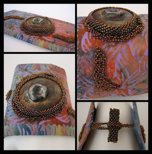 Cuff with Lisa Peters Raku Bead