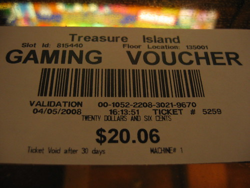 Treasure Island voucher