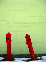 Red & Green (The Joy Of The Mundane) Tags: red color colour green colors colorful colours post tip colourful posts tilt personalbest