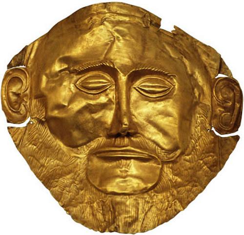 Máscara de oro, Micenas, Peloponeso, Grecia