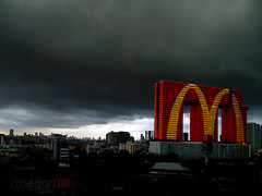 McDonald new asia head quarter (AraiGodai) Tags: thailand interesting asia fake explore mcdonald coporate goldenarch elephantbuilding araigordai theempirestrikeback raigordai araigodai