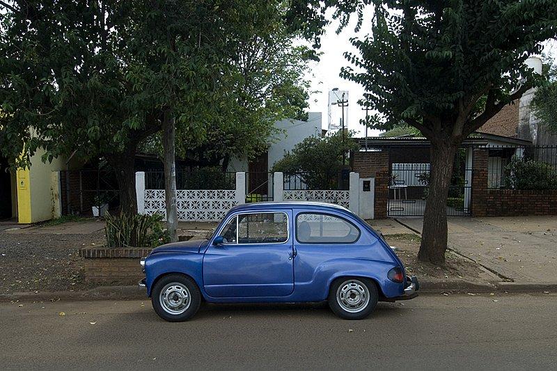 Blue Fiat in Posados