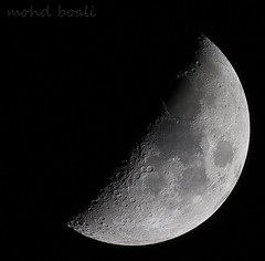half moon (mohammad khorshid (boali)) Tags: moon night canon kuwait q8 extender 400mm    40d rubyphotographer flickrlovers