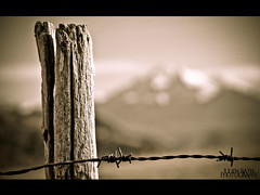 ~~ Out of focus ~~ (Julien Ratel ( Jll Jnsson )) Tags: mountain grass montagne grenoble canon fence landscape