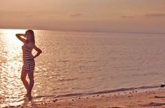 Fran (Le Montage) Tags: sunset sexy beach university pretty skin joy fran bikini ateneo davao devi samal