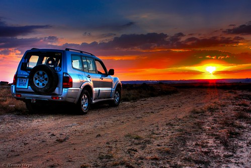 Pajero & Sunset (HDR) - Kloppenheim Estate