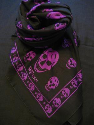 Alexander Mcqueen skull print scarfs