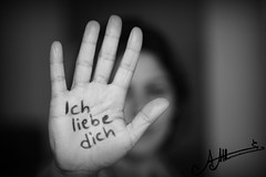 Ich Liebe Dich  (A.A.A) Tags: world blackandwhite bw woman white black detail macro love girl lady canon photography hand mark iii details german notme iloveyou language addiction aaa amna irresistible eos1ds ichliebedich althani canoneos1dsmarkiii amnaaalthani dedicatedtonas