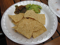 Pierre Hermé: Tortilla chips, guacamole and spicy salsa