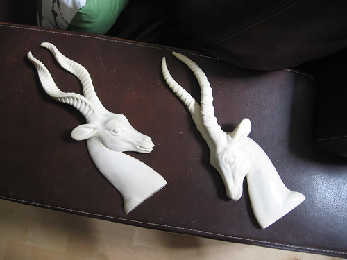 pair of animal wall sculptures - set was $30, got it for $20