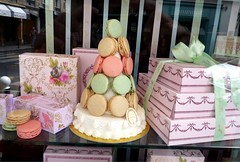 Laduree Window Display (babushka bakery) Tags: travel inspiration paris pastries quinceaneras stylemepretty babushkabakery saraneckibroscatering chicagoweddings